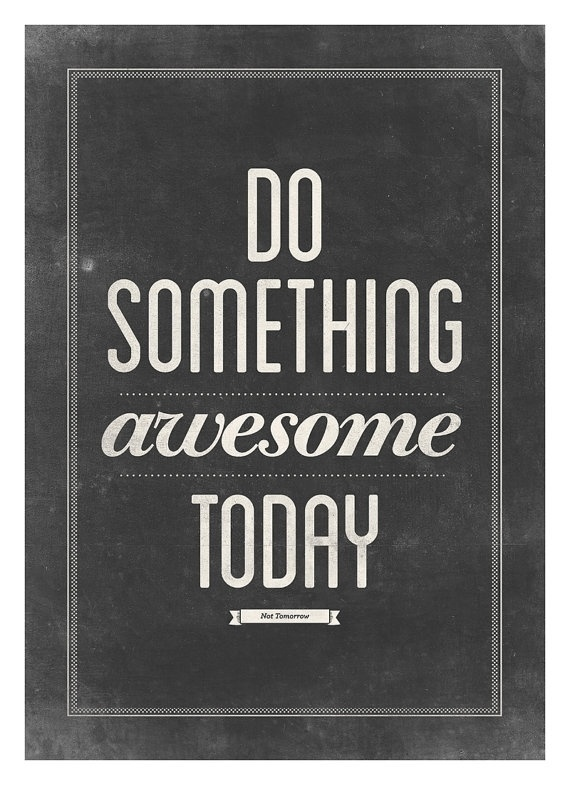 Motivational typography poster Do something by NeueGraphic #print #neuegraphic #poster #art #typography