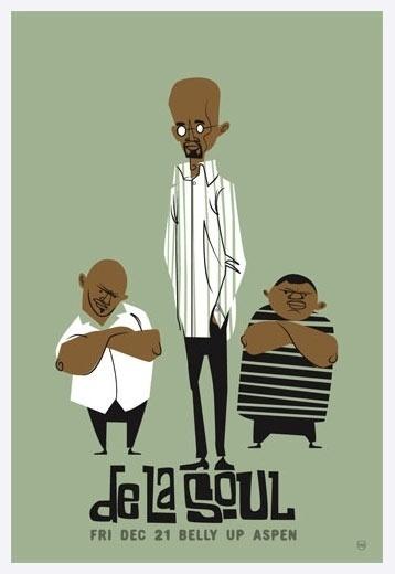 De La Soul in Belly Up, Aspen 12/21/2007 Scrojo #music #poster