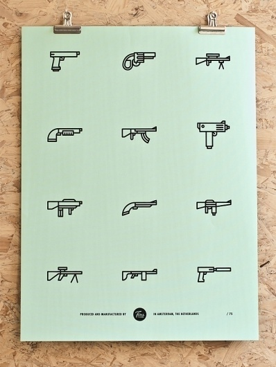 Tim Boelaars — Guns #icon #design #icons #texture #illustration #posters #poster #paper