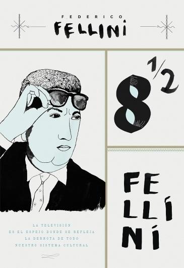 film #fellini #poster #film #blue #typography