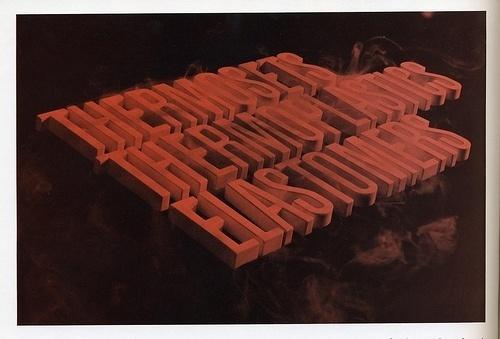 Typeverything.com - Thermosets. (ViaDraplin) - Typeverything #red #extrude #poster #type #typography