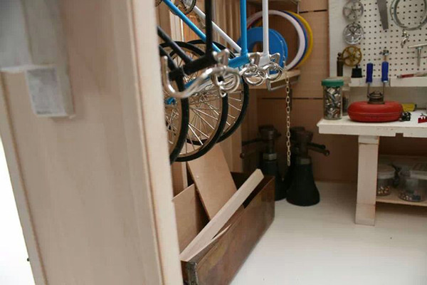 TinyGarage Interior 1.jpg #workshop #bike #miniature #art