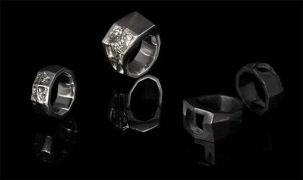 journey palermo | SMITH/GREY #rings #mens #ring #white #b&w #silver #smithgrey #black #jewellery #and #dark #grey