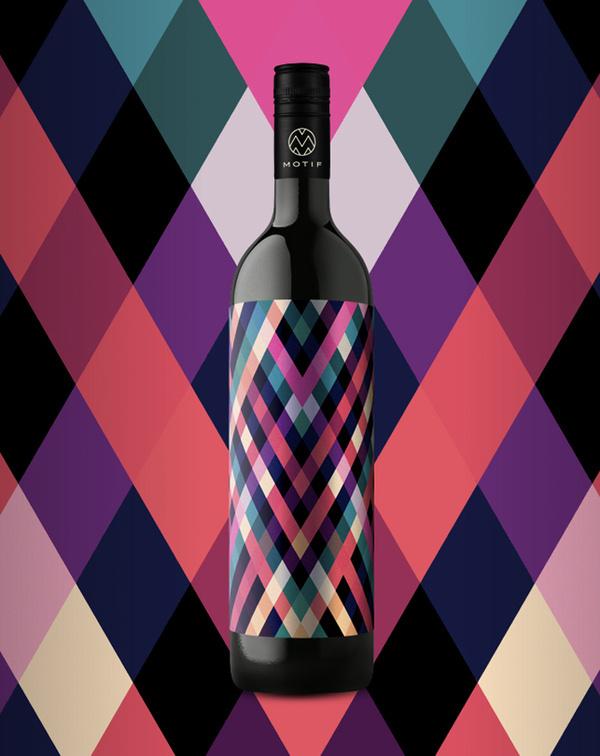 10_17_13_MotifWine_4.jpg #bottle #packaging #design #color #wine #geometric