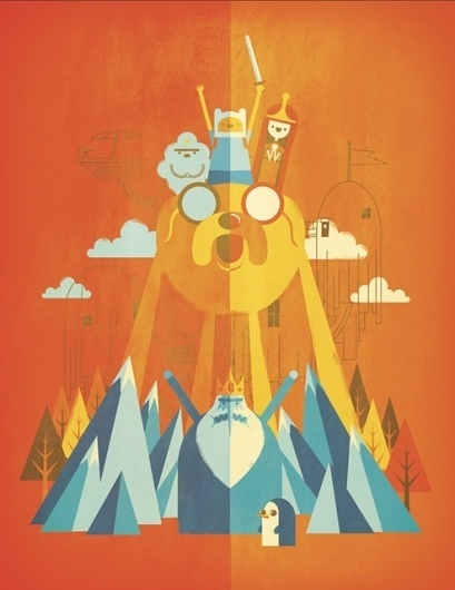 Adventure Time Tribute by Jorsh Pena on Flickr. #adventure #illustration #time