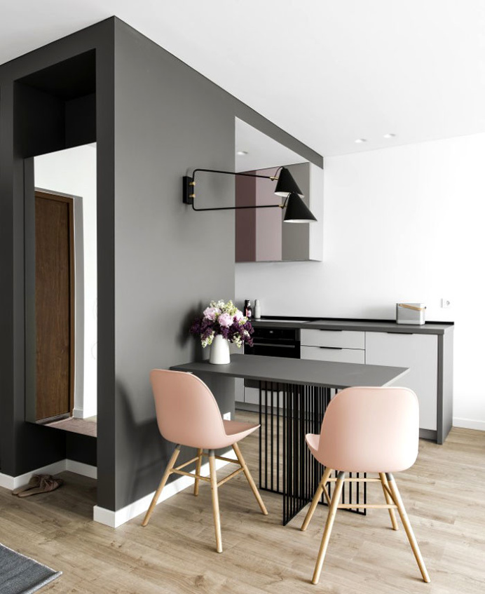 Small Studio Apartment With Feminine Design - InteriorZine #decor #interior #home