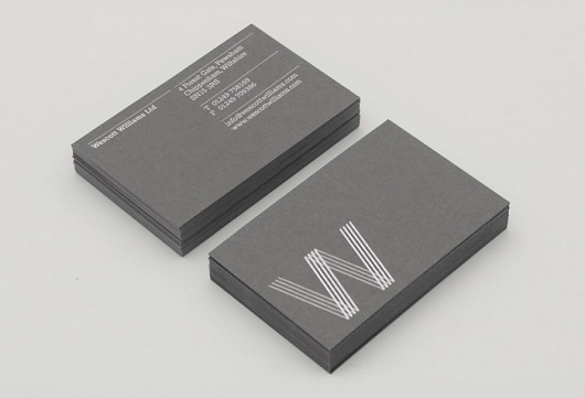 Wescott Williams #branding #business #print #design #identity #cards #typography