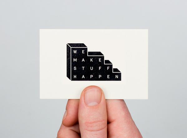 We Make Stuff Happen #logo #card #minimal #business