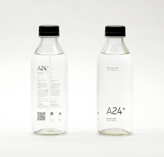 A24+ Silence Water | Bloggokin.it #packaging #label #glass #minimal #minimalist