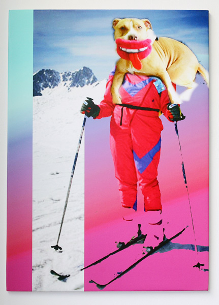 cane big #skiing #collage #gradient