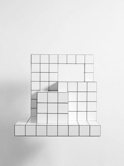 white cubed