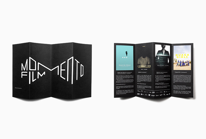 Momento Film by Bedow #print #graphic #design #brochure