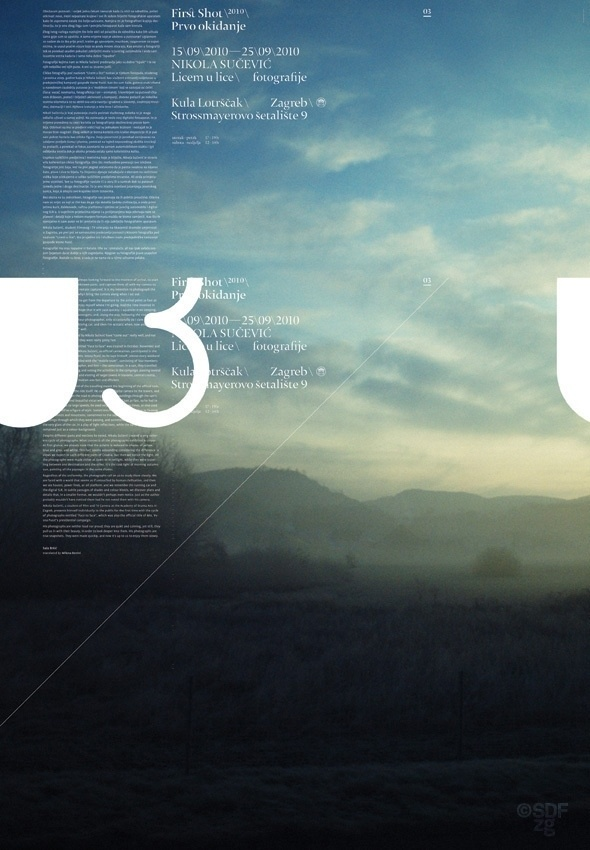 FirstShot 2010 Posters #landscape #design #graphic #typography