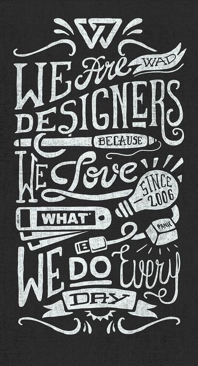 We Are Designers by Javi Bueno #white #handlettering #designers #black #and #typography