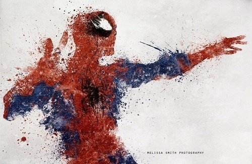 Our Favorite Superheroes Get 'Splattered' - DesignTAXI.com #spiderman #comics #art