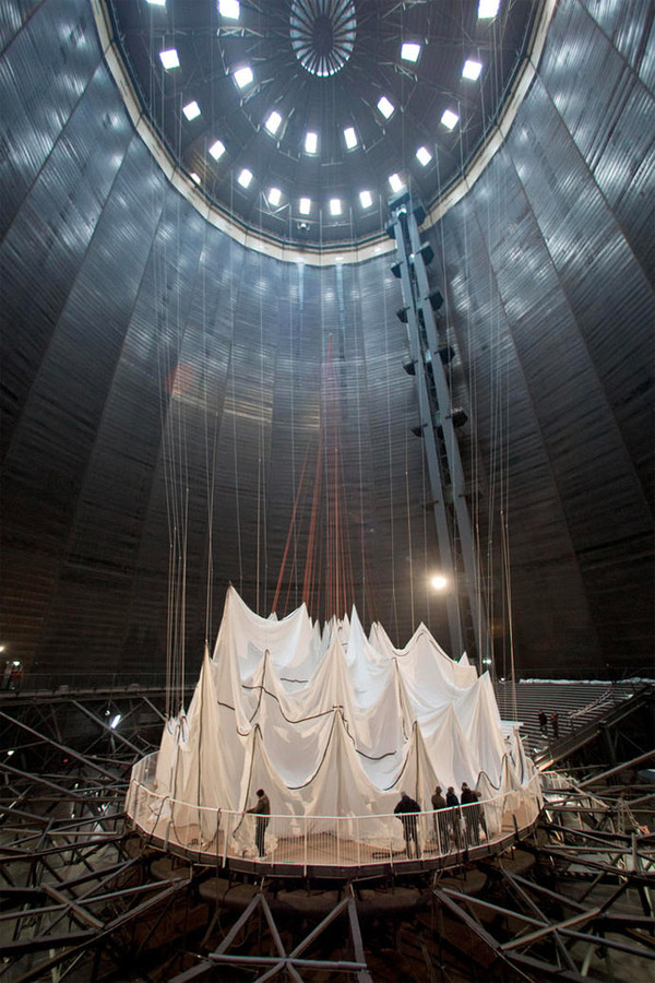 Big Air Package: The Largest Inflated Envelope in History by Christo #installation #dome #inflated