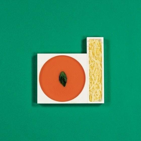 geometric food #shape #pantones