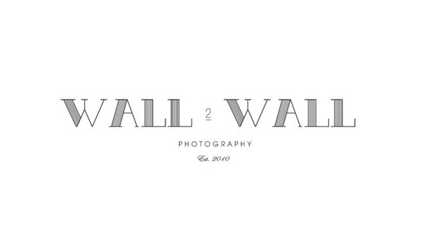 Logo for Wall 2 Wall Photography by Christina Cagle #logo #identity #branding