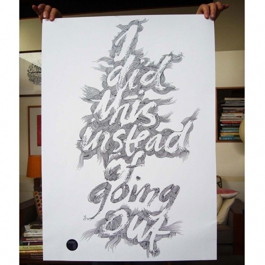 I Did This Poster - Prints | endemicworld.com #zealand #type #illustration #new