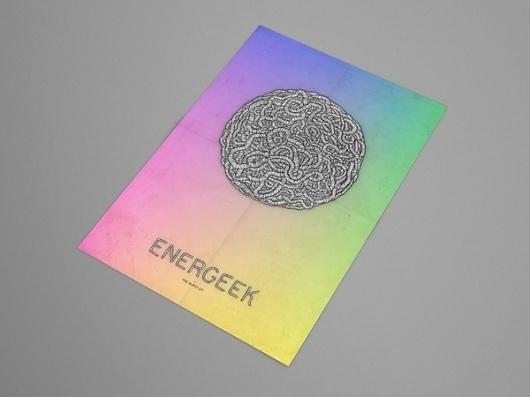 Energeek EP on the Behance Network #illustration #energeek #poster #gradient
