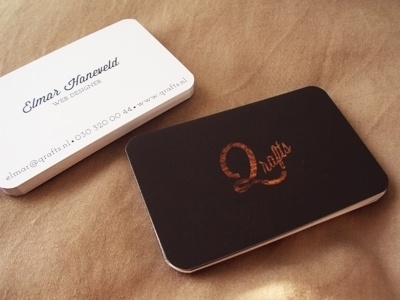 Dribbble - My Business Card by Elmar Haneveld #uv #card #business #spot