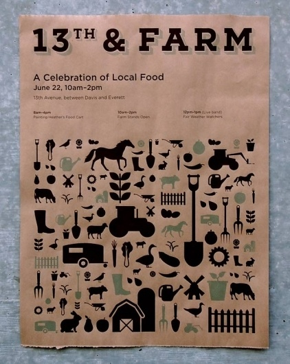 13th & FARM #print #icons #screen #farm #poster #po