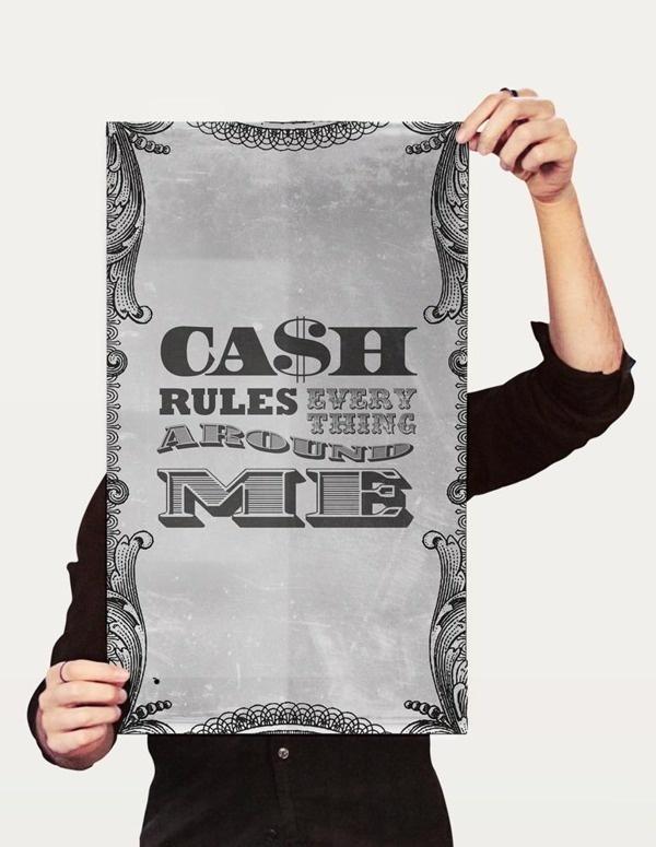 C.R.E.A.M. typography on the Behance Network #nurdinova #scary #design #graphic #karina #tang #music #hop #wu #hip