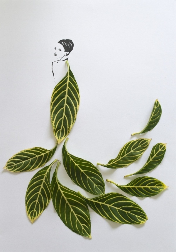 Fashion in Leaves by Tang Chiew Ling #fashion #minimal #art