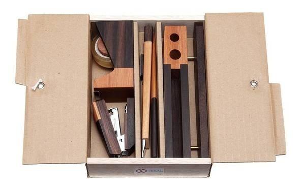 Wooden Luxury Deskset by Singgih Susilo Kartono #minimalist #design #stationary #set