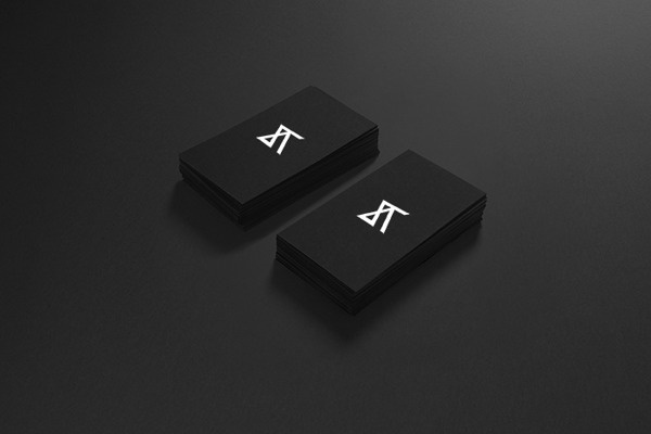 Adam Å vejda / logo identity on Behance #black #cards #business