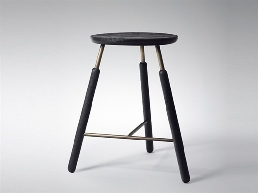 HIGH WOODEN STOOL RAFT BARSTOOL NA4 RAFT COLLECTION DESIGN BY JONAS BJERRE-POULSEN, KASPER RØNN | &TRADITION #steel #stool #wood #tradition #bar