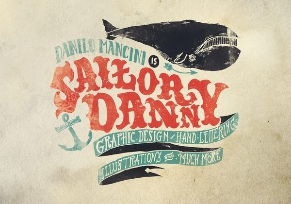 Sailor Danny on Typography Served #whale #type #anchor