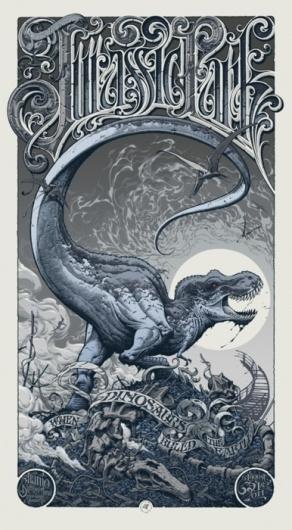 supersonic electronic / art #movie #park #jurassic #poster #dinosaur #typography