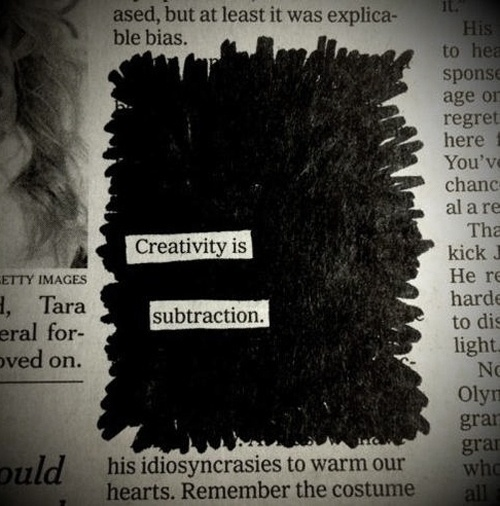 this isn't happiness.™ #subtraction #creativity #paper