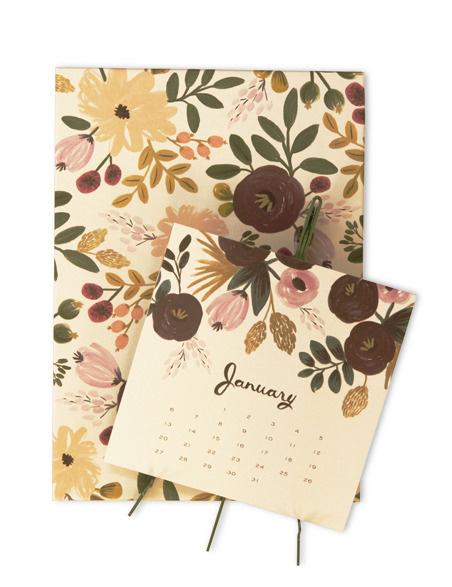 Kate's Paperie : Shop : 2013 Desk Calendar, Botanical : 0018681 : #calendar #floral #flowers
