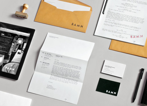 BAMN Stationery #simple #bamn #minimal #stationery