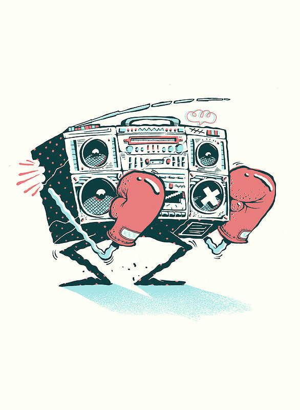 Redbubble art prints on Behance #boom #design #boxing #box #illustration #character