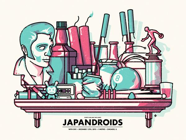 GigPosters.com Japandroids Diiv #illustration #gig #poster