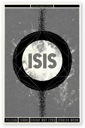 SCOTT CAMPBELL #black #white #isis #poster