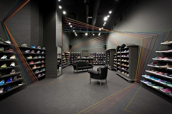 Polish Sneaker Store Run Colors #interior #design