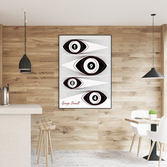 1984 poster George Orwell print big brother poster   Etsy