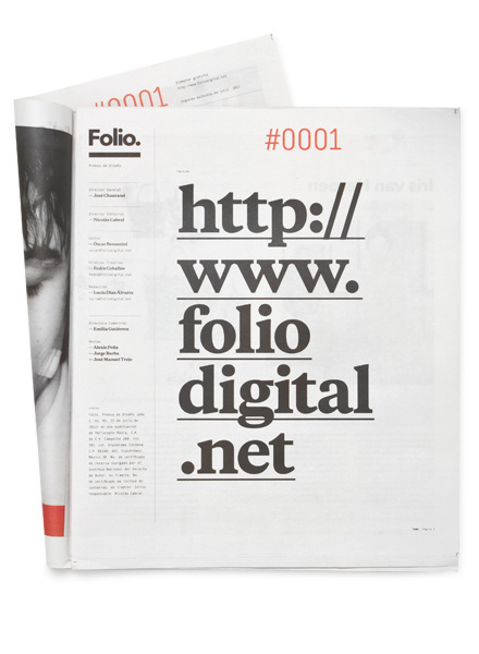 Folio. #print #design #newspaper #editorial