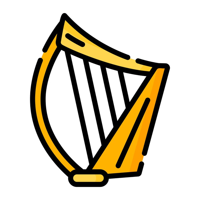 See more icon inspiration related to harp, music and multimedia, string instrument, musical instrument, orchestra, instrument, musical and music on Flaticon.