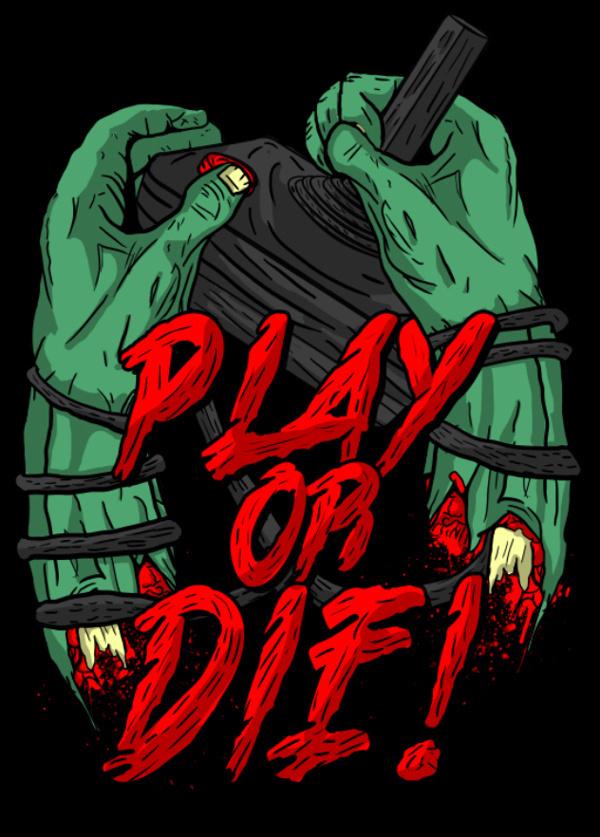 PLAY OR DIE on Behance #die #typography #or #illustration #play #zombie #liceaga #arturo