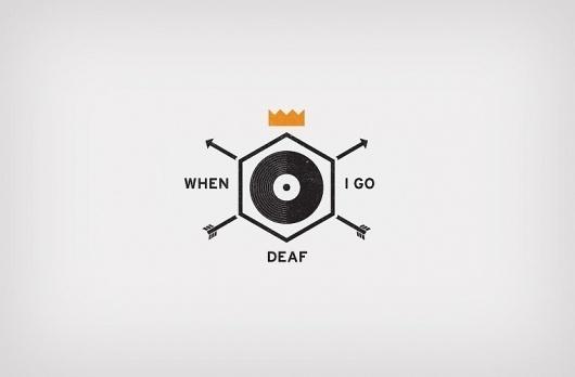 Jon Ashcroft Design & Illustration #mark #crown #deaf #record #arrow #logo