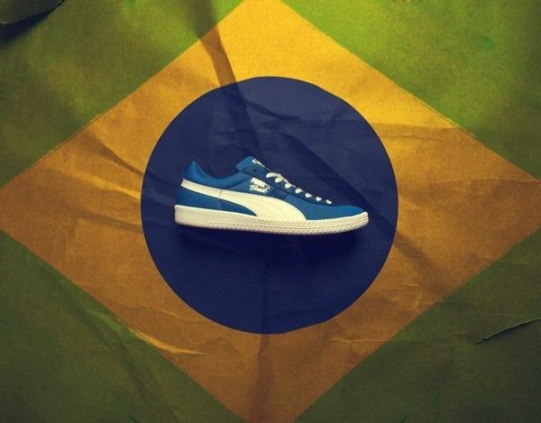 Puma Brazil #worldcup #puma #shoe #soccer #ronaldo #sneaker #canvas #football #brazil