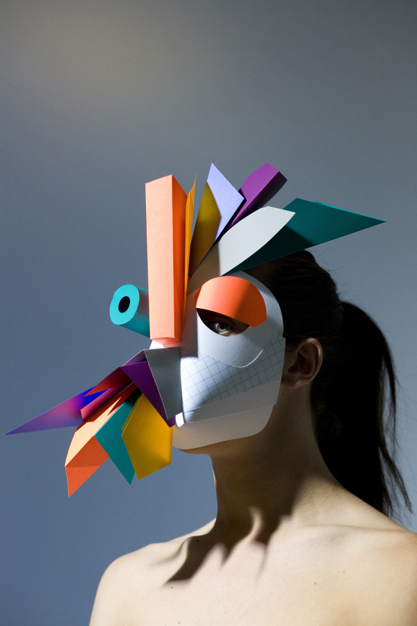 benja #sculpture #competition #mask #face #paper