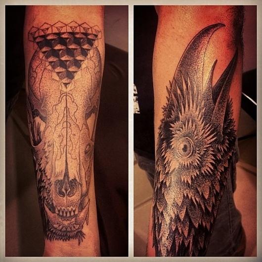 Instagram Photos #dotwork #tattoo #hooper #pointillism #marangoni #dark