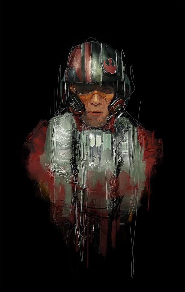 RAWZ #fi #sci #wars #pilot #illustration #portrait #star #awesome