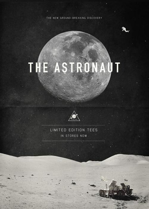 The Astronaut #design #graphic #poster